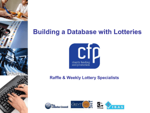 CFP Building a Database with Lotteries