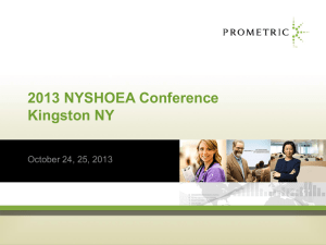 2013 NYSHOEA Conference Kingston NY