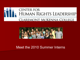 Center for Human Rights Leadership