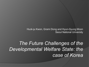 4. Economic crises and the welfare state in Korea