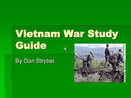 Vietnam War Study Guide