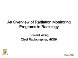 Radiation Dose Monitoring in Radiology