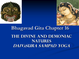 Chapter 16 - The Divine and Demoniac Natures - Audio