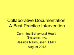 Collaborative Documentation - Cummins Behavioral Health Systems