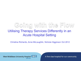 Utilising therapy services to improve discharge planning