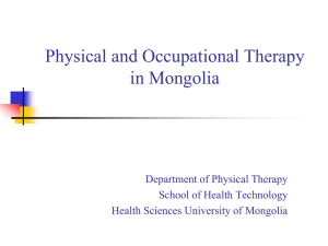 Physical and Occupational Therapy in Mongolia
