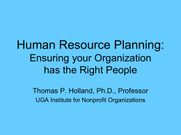 Human Resource Planning: Ensuring your Organization has the