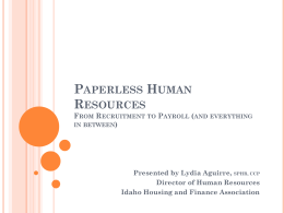 Paperless Human Resources From Recruitment to Payroll