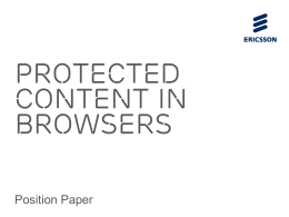 Protected Content in Browsers