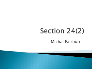 Section 24(2) - Cooper Barristers