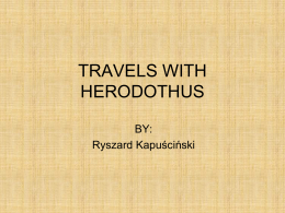 PPT on Travels with Herodotus