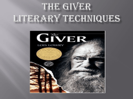 The Giver - Hamilton Township Schools