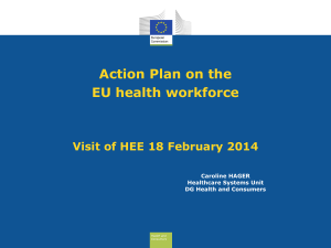 Action Plan for the EU health workforce