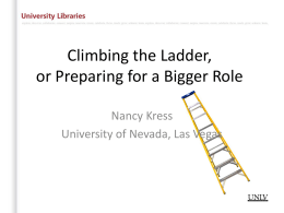 HANDOUT: Climing the Ladder