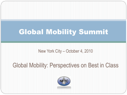 Global Mobility Forum - The Forum for Expatriate Management