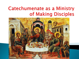 Reclaiming the Catechumenate as a Ministry of Welcome