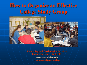 How to Organize an Effective College Study Group