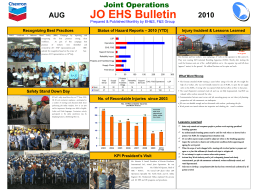 JO EHS Bulletin AUG 2010 No. of Recordable Injuries since 2003
