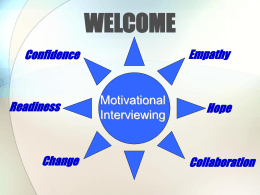Trainers Guide To Motivational Interviewing