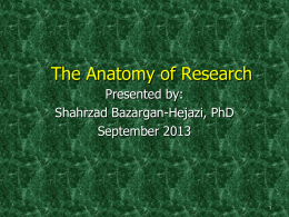 The Anatomy of Research