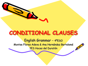 CONDITIONAL CLAUSES - ies hoces del duratón
