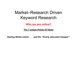 Market–Research-Driven-Keyword-Research