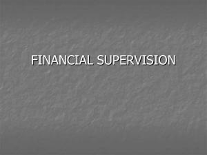 FINANCIAL SUPERVISION
