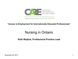 Nursing in Ontario - SettlementAtWork Wiki