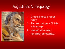 Christian Anthropology - University of St. Thomas