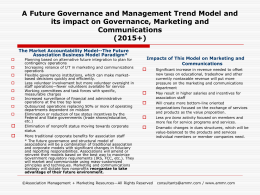 AMMR`s Future Association Governance and Management Model