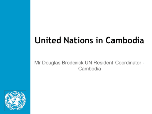 Development Challenges in Cambodia