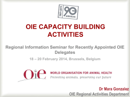 OIE Capacity building activities