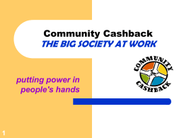 B3 What is Community Cashback
