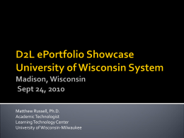 Matt Russell Intro - University of Wisconsin System