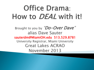 Office Drama: How to DEAL with it!