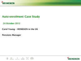 HEINEKEN in the UK Pensions Manager Carol Young