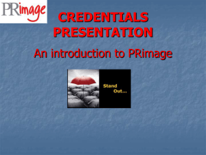 PRimage PP Credentials