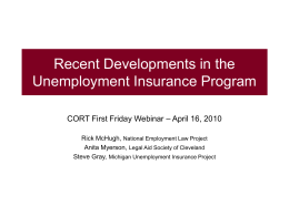 Unemployment Compensation - Michigan Poverty Law Program