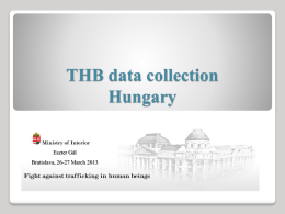 Fight against human trafficking and data collection Hungary