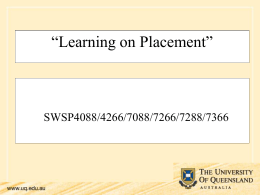 Learning on Placement (PowerPoint Presentation)