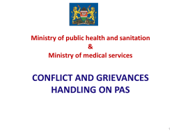 conflict and grievances handling on pas