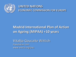 Report by the Chairman of the Working Group on Ageing