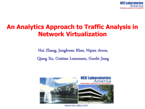 An Analytics Approach to Traffic Analysis in Network Virtualization