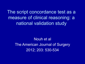 The script concordance test as a measure of clinical reasoning: a