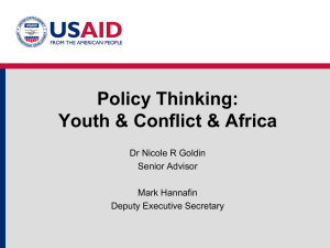 Policy Thinking Youth Conflict Africa WW Center April 17