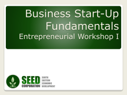 Business Start-up Fundamentals