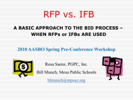 RFP vs. IFB