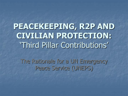 peacekeeping and civilian protection