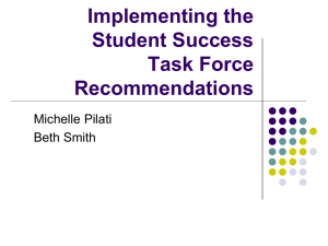 Implementating the Student Success Task Force Recommendations