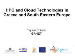 Dr. Tryfon Chiotis,, HCP and Cloud Technologies in